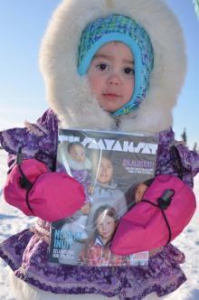 Tusaayaksat Winter 2019 2020 Issue Cover Page by Maureen Pokiak & Writer